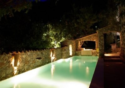 The Pool At La Parare At Night 600x399 1